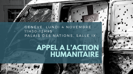 Appel à l'action humanitaire - Intervention de l'Ambassadeur